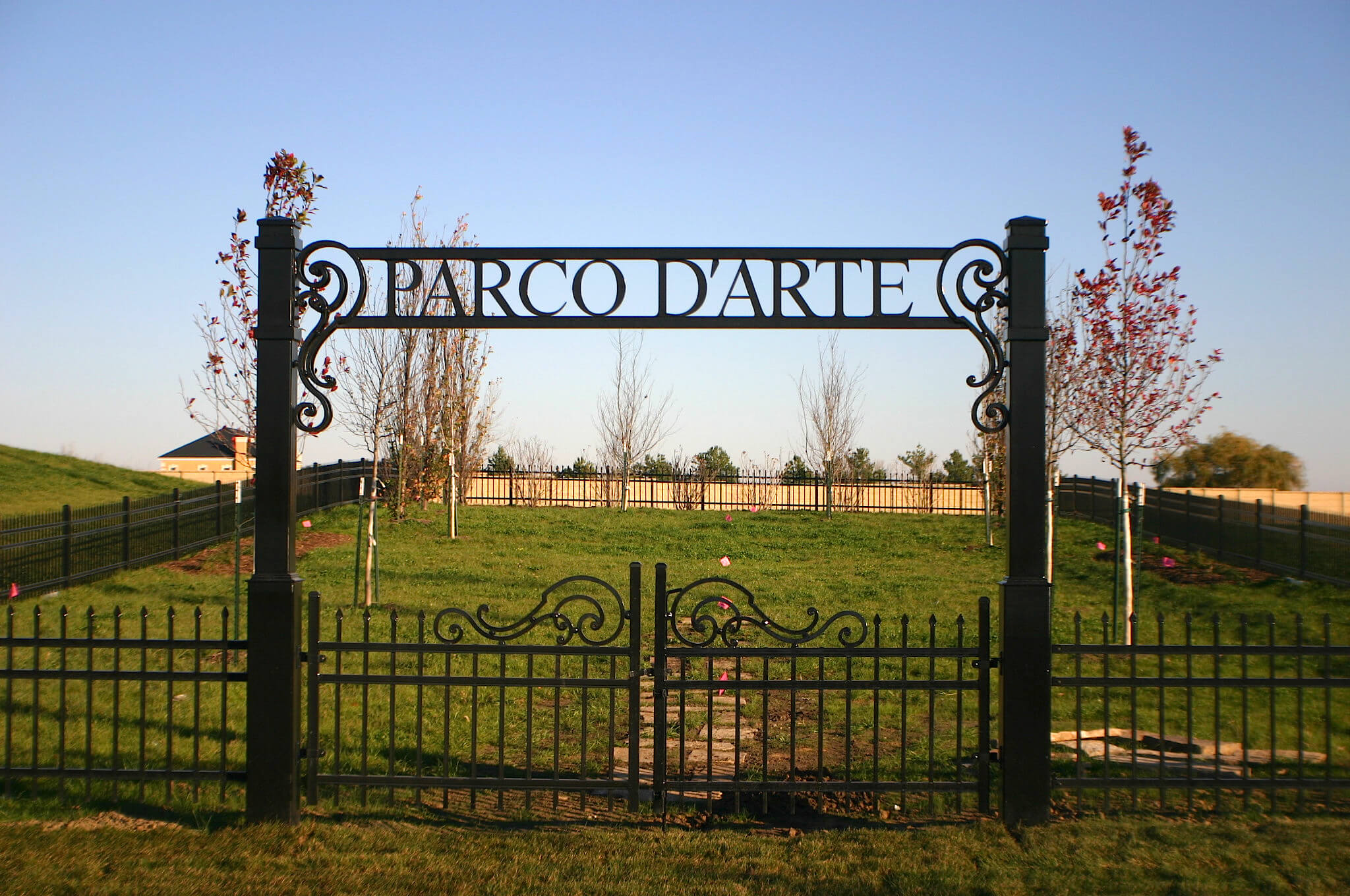 Park Sign Gate Artistic Iron Works